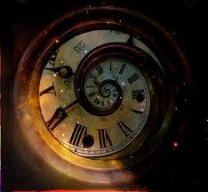 photo of swirling clock
