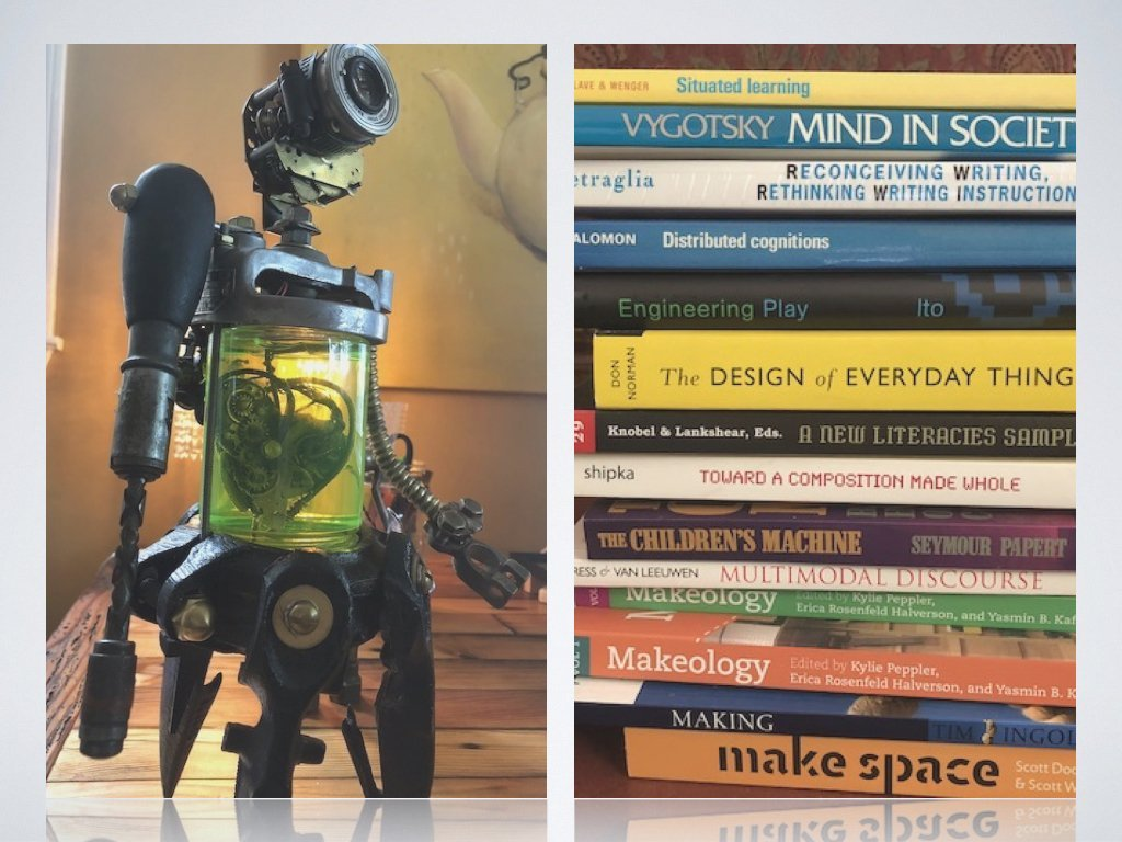 image of books and a robot